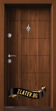 Блиндирана входна врата модел T-587-50% чист монтаж