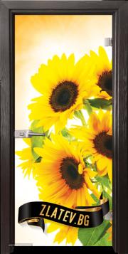 Стъклена интериорна врата Print G 13-4 с каса Венге